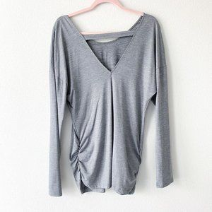 Lucy Manifest Heather Grey Long Sleeve Tunic Top